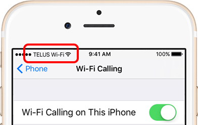 wifi phone calls iphone telus iphone wi fi calling support telus 16508